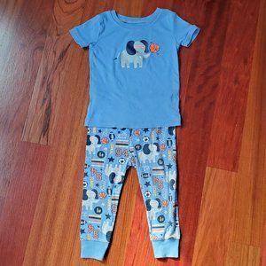 Old Navy Elephant Pajama Set 18-24 Months